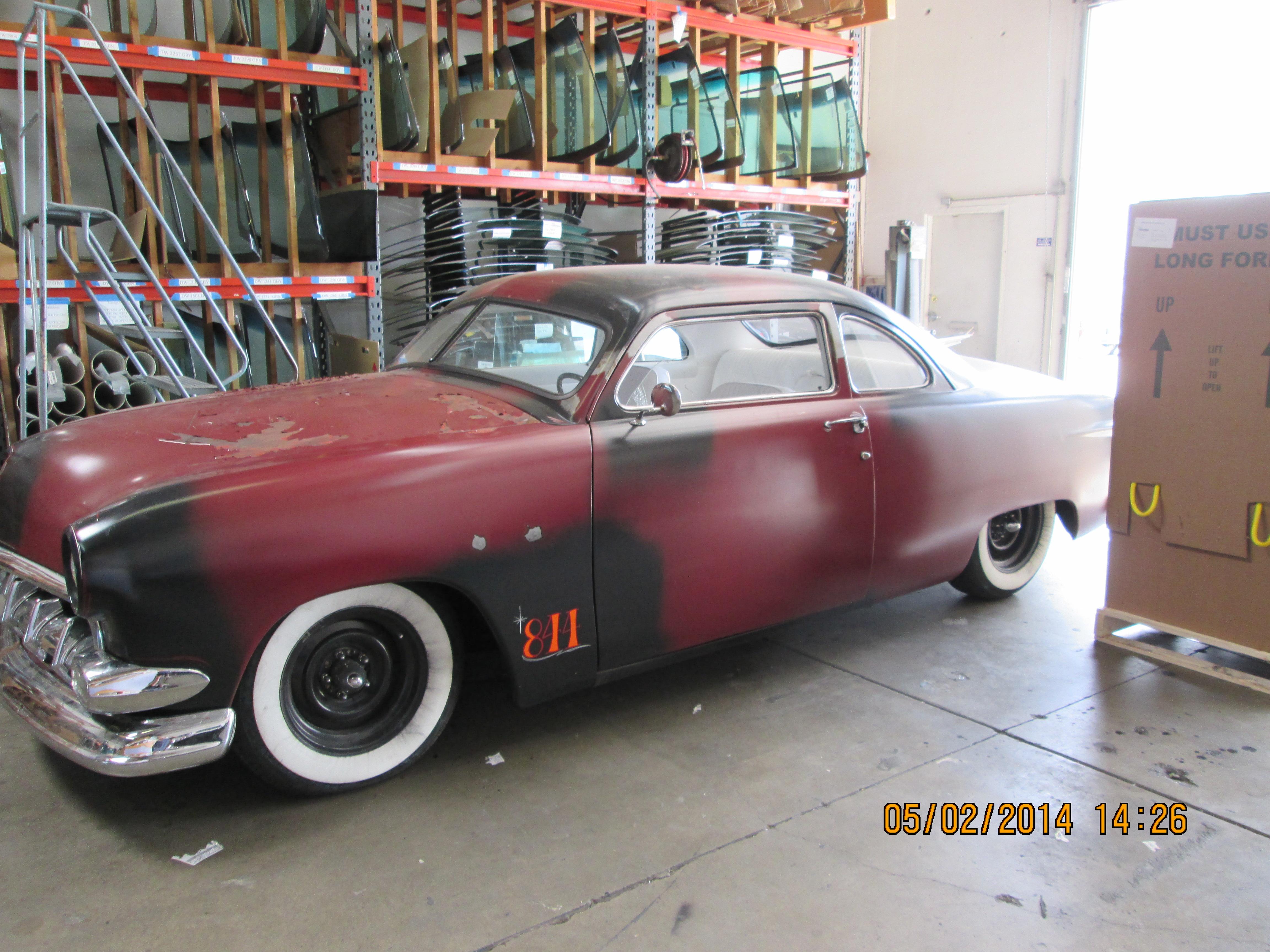 Classic car custom cut windshield glass replacement in Sacramento CA