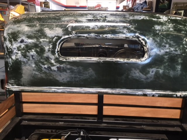Classic car custom rear glass replacement Sacramento CA