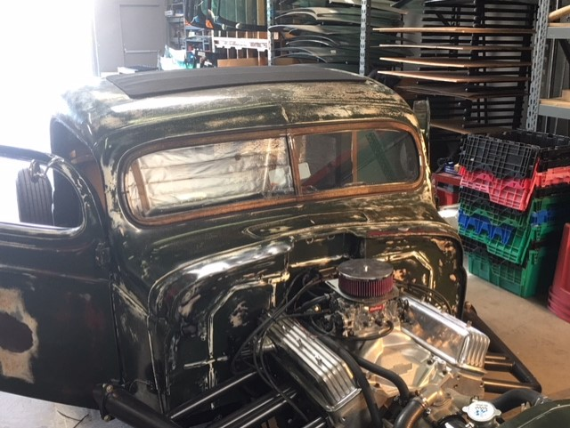 Classic car custom split windshield glass replacement Sacramento CA