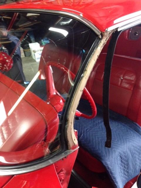 Classic car wrap around custom windshield glass replacement Sacramento CA