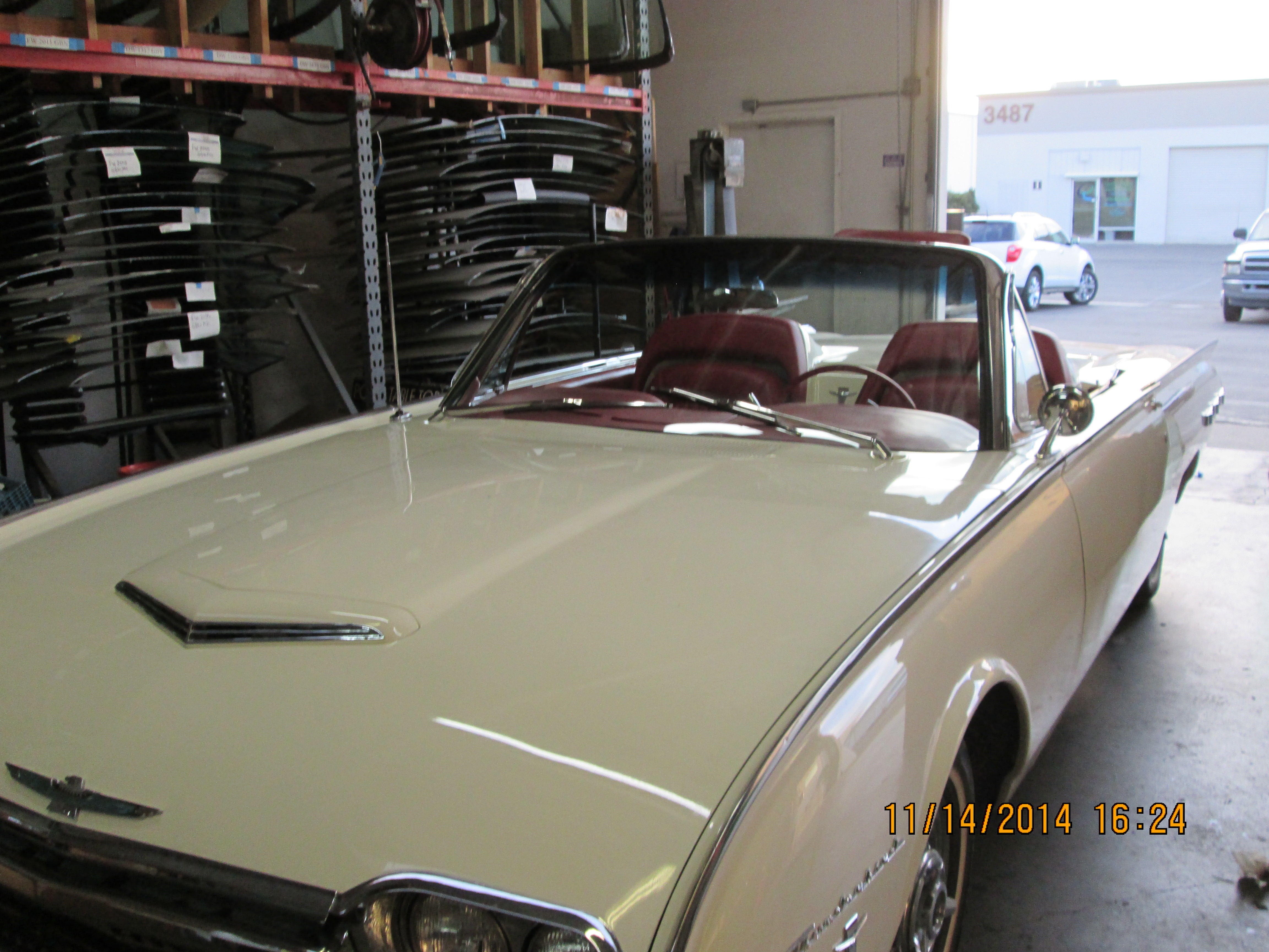 Classic convertible car custom windshield glass replacement Sacramento CA