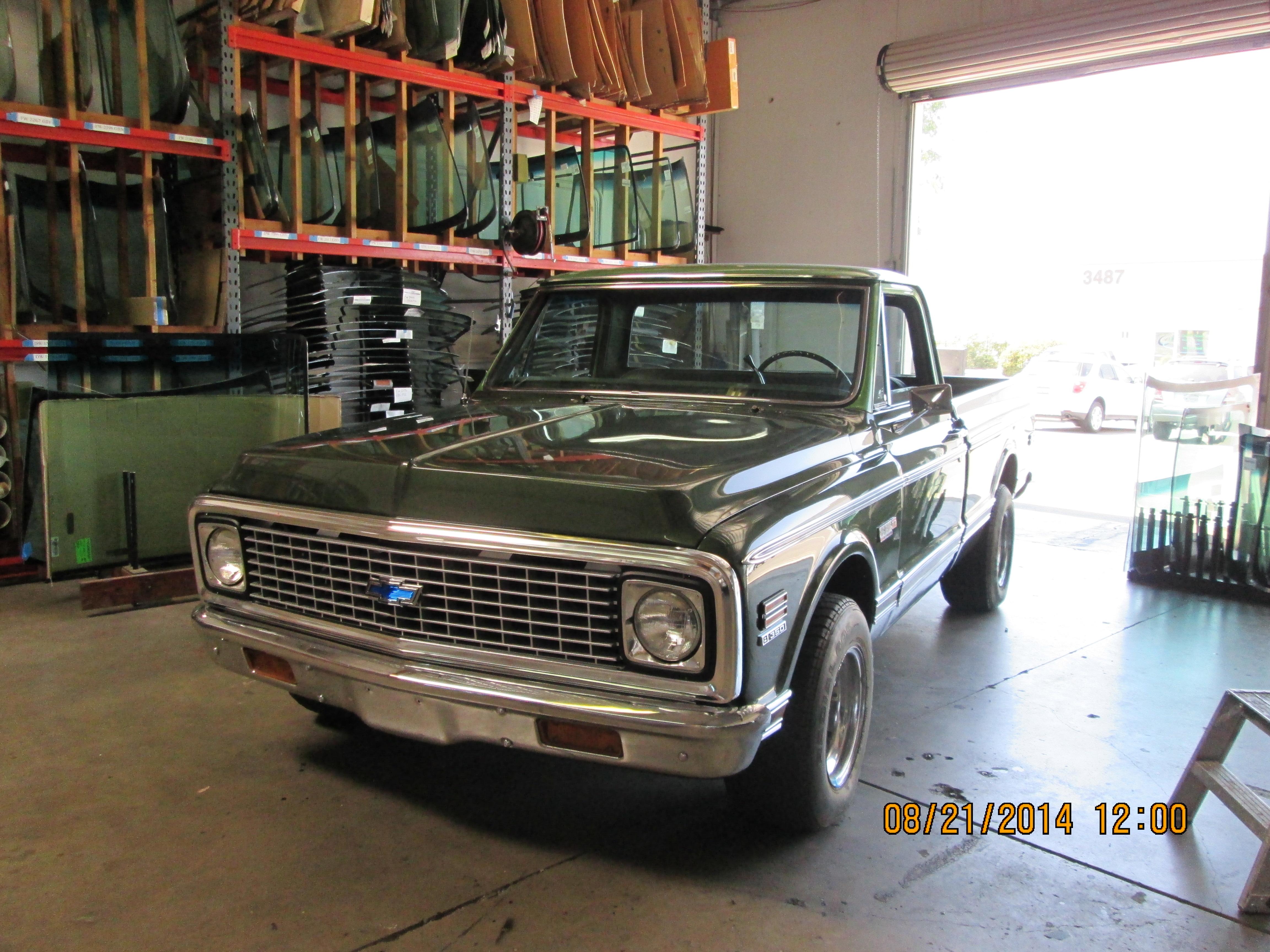 Classic truck custom windshield replacement in Sacramento CA