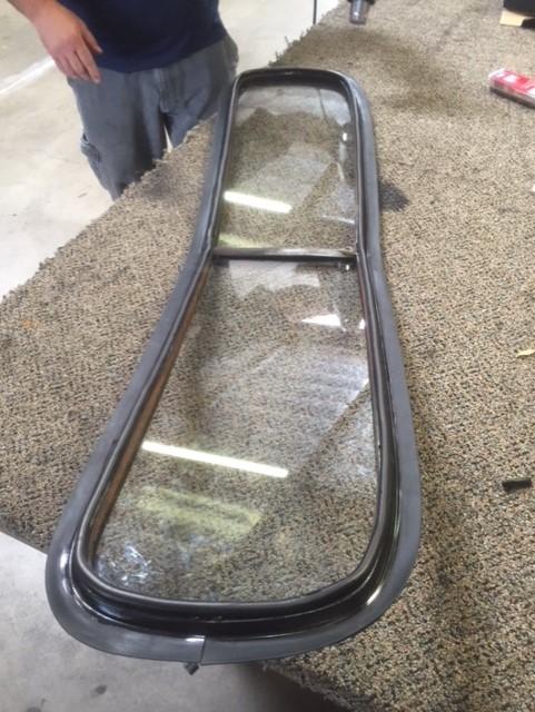 Custom cut glass for a classic car windshield replacement Sacramento CA