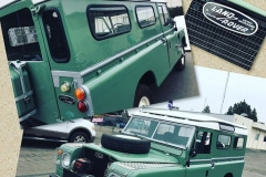 Classic Land Rover custom windshield glass replacement Sacramento CA