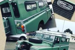 Classic Land Rover custom windshield glass replacement Sacramento CA
