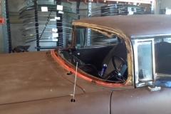 Classic car custom cut rear glass replacement Sacramento CA