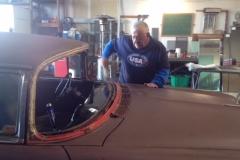Classic car custom cut rear glass replacement company Sacramento CA