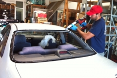 Classic car custom rear windshield glass replacement Sacramento CA