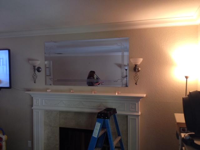 New Mirror above mantel Sacramento CA