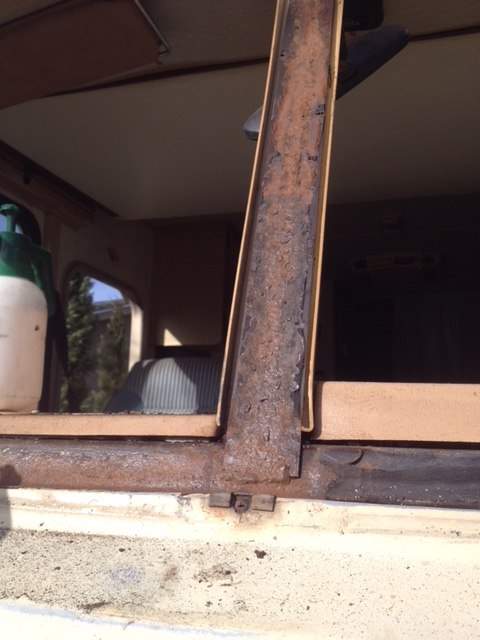 RV Windshield Frame Corrosion Repair Company Sacramento CA area