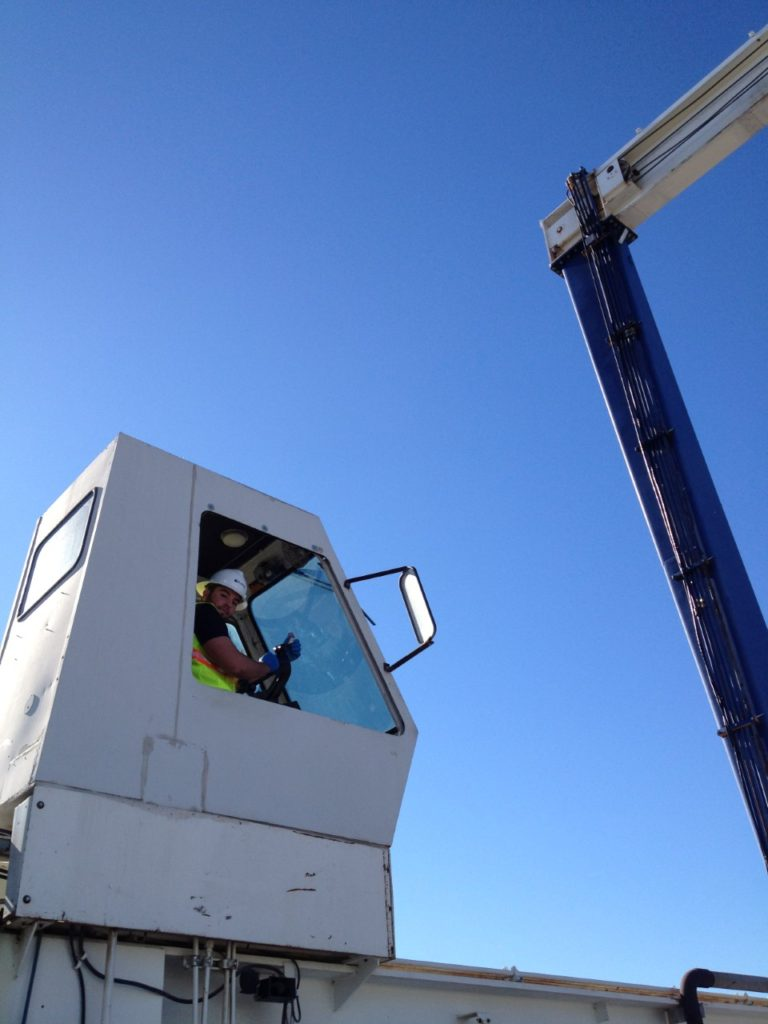 Crane Window Glass Replacement on site in Sacramento California